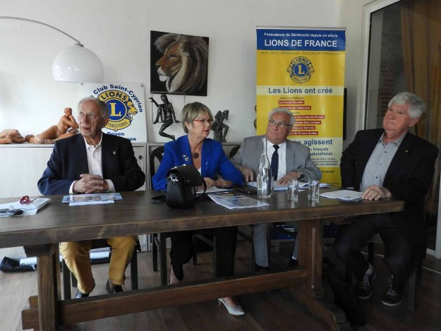 Rencontre avec Anita Marigo, gouverneur district sud - 2 octobre 2018 - Lions Club Saint-Cyprien Doyen