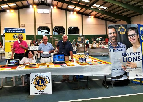 Nouveau bureaForum des associations - Lions Club Saint-Cyprien Doyen - 6 septembre 2020