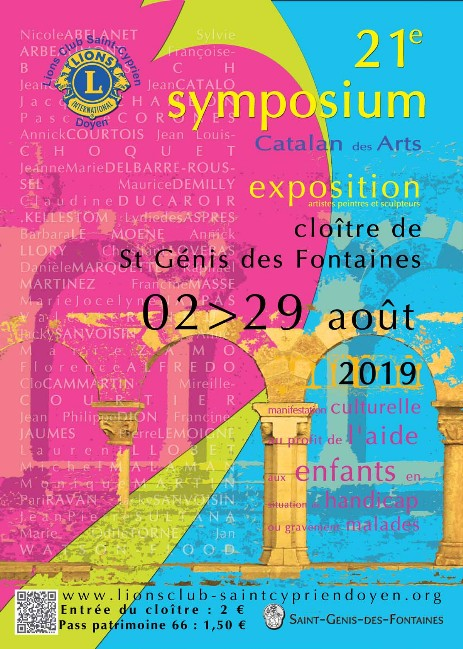 Symposium Catalan des Arts 2019 - Lions Club Saint-Cyprien Doyen